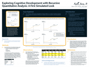 "Poster board for ""Exploring Cognitive Development with Recursive Quantitative Analysis: A First Simulated Look"""