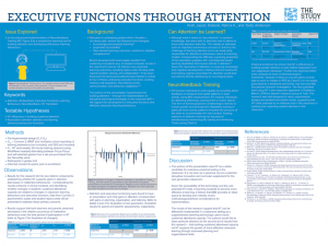 "Poster board for "" The Efficacy of Neurofeedback Training in Building Learning Skills and Work Habits"""
