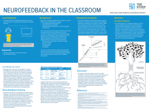 "Poster board for ""Neurofeedback in the Classroom"""