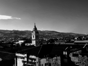 Scenic view of downtown Quito, Ecuador