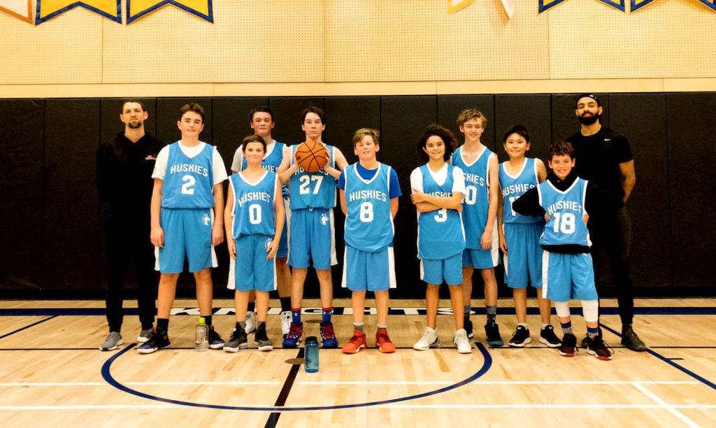 U14 basketball team photo